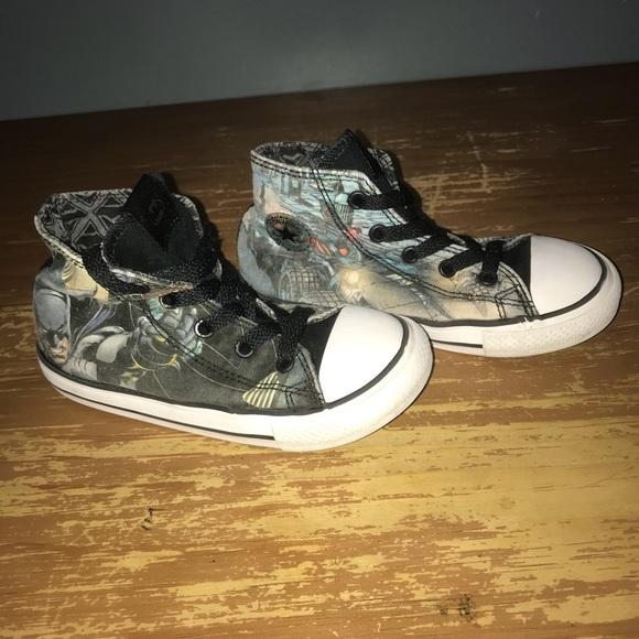 Kids Converse Batman Shoes Size
